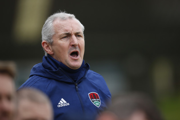 John Caulfield during the game