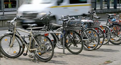 Full of bike stands
