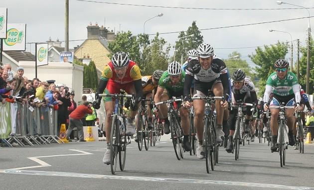 Sam Bennett wins the sprint