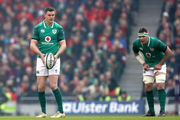 Johnny Sexton and Peter O'Mahony