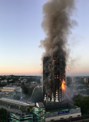 Tower block fire in London
