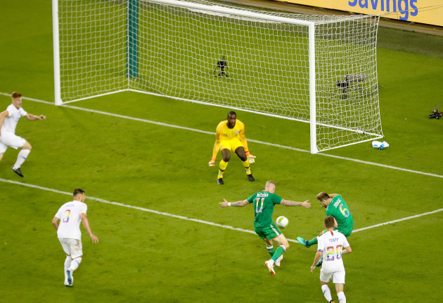 Alan Judge scores a goal