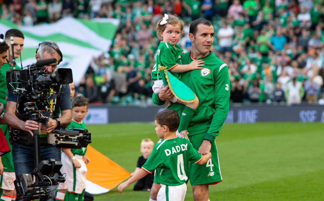 John O'Shea with his daughter Ruby and son Alfie