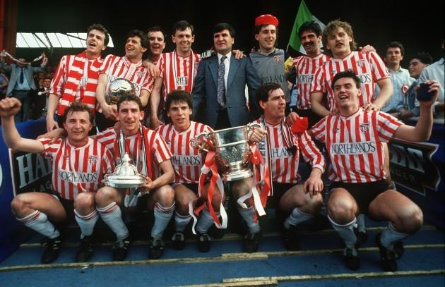 Derry City celebrate 1989