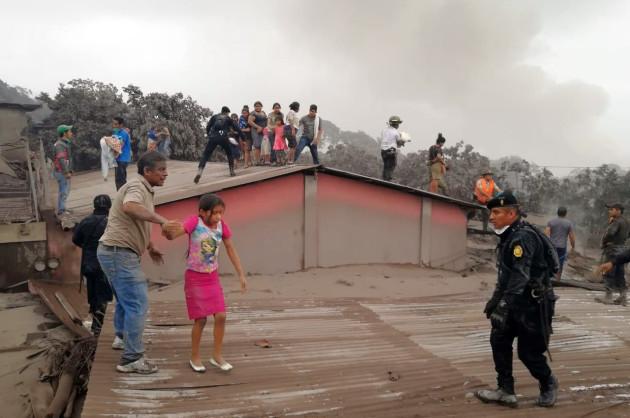 GUATEMALA-CHIMALTENANGO-VOLCANO-ERUPTION