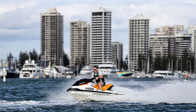 Peter O'Mahony out jet skiing