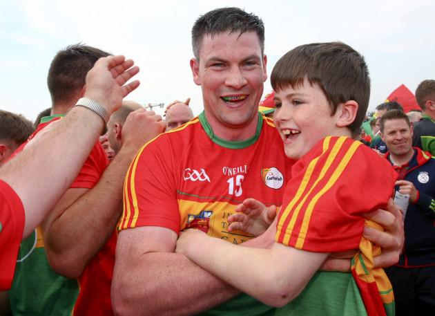John Murphy celebrates with supporter Pat Murphy