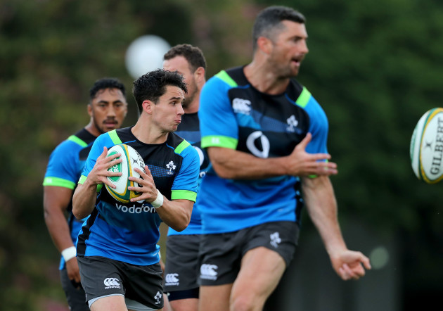 Joey Carbery during training