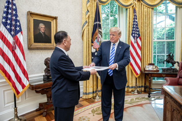 U.S. President Donald Trump Meets with North Korean official Kim Yong Chol at the White House