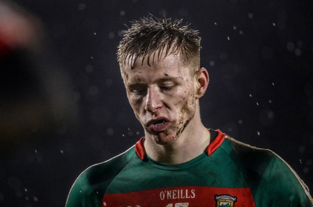 Ryan O'Donoghue dejected at the end of the game