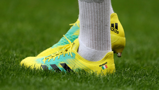 A view of Conor Murray's boots