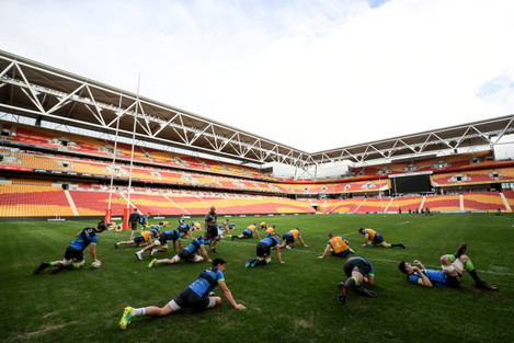 A view of the Irish captains run