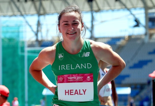 Phil Healy after celebrates winning her heat