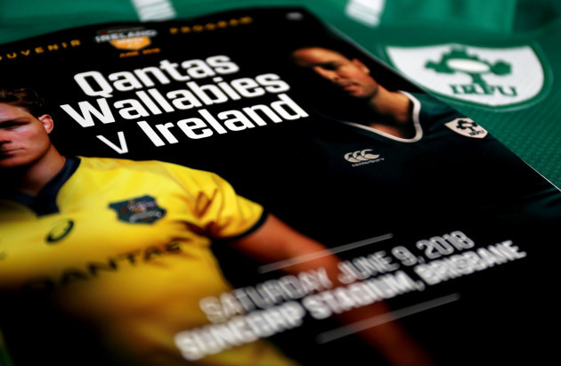 A view of the match programme
