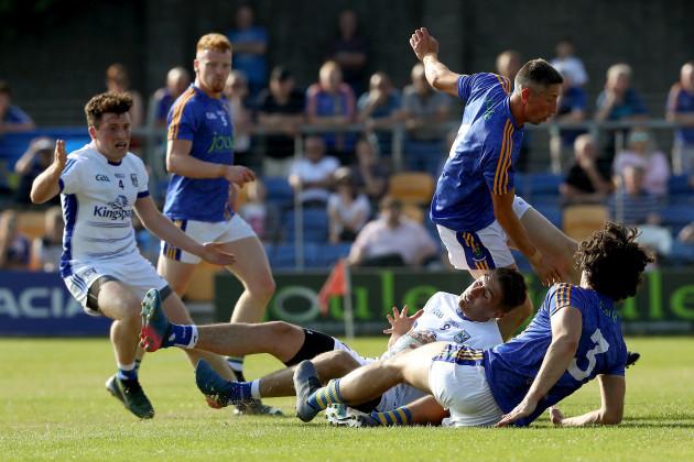Ross O'Brien fouls Killian Clarke