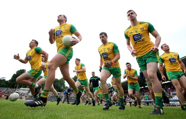 Donegal make their way onto the pitch