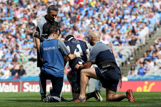 Stephen Cluxton receives medical attention