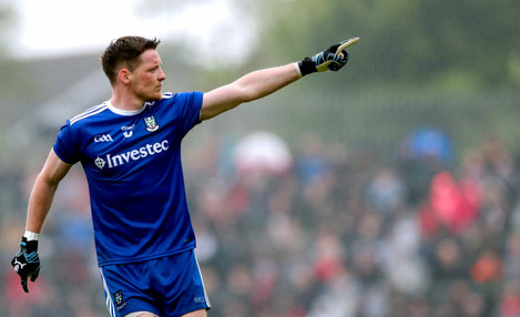 Conor McManus celebrates scoring a point
