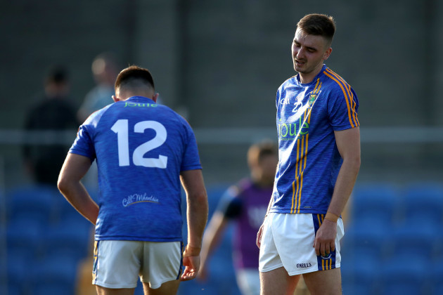 Darren Hayden and Jamie Snell dejected at the end of the game