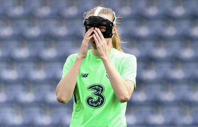Louise Quinn before the game