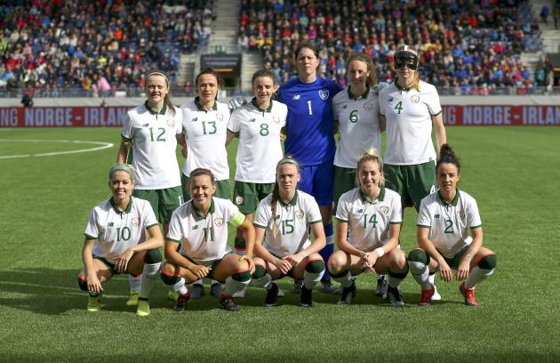The Ireland team