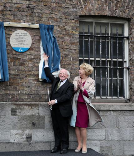 Unveiling of the Hanna Sheehy Skeffington commemorative plaque