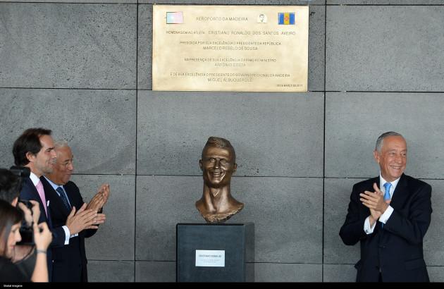 Portugal: Assignment Name Ceremony Cristiano Ronaldo to Madeira International Airport