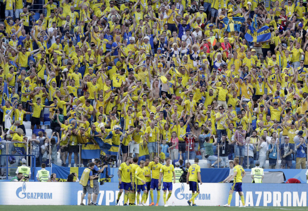 Russia Soccer WCup Sweden South Korea