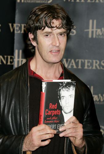Rupert Everett signs autobiography at Waterstones, Harrods - London