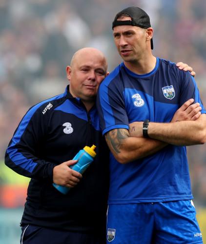 Derek McGrath and Dan Shanahan dejected after the game