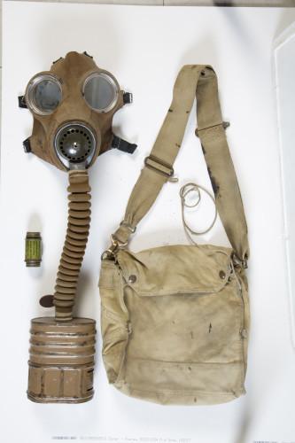 WW2 Gas Mask and Bag