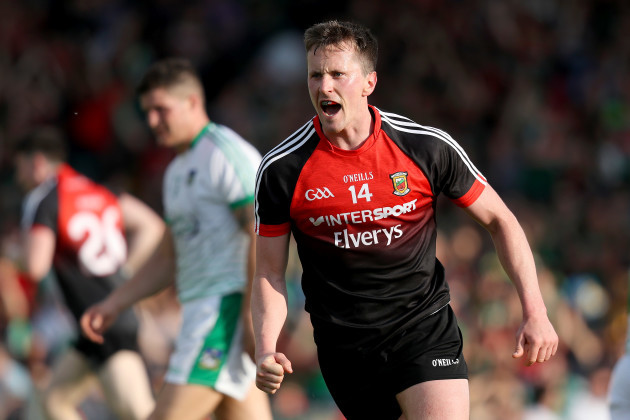 Cillian O'Connor celebrates scoring a goal