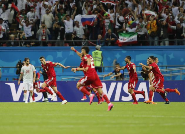Russia Soccer WCup Iran Spain