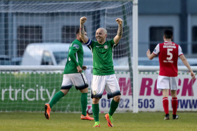 Gary McCabe celebrates after his side's second goal