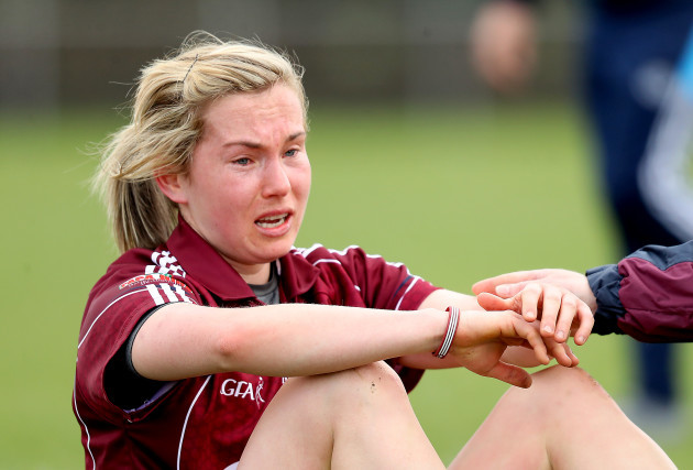 Tracey Leonard dejected after the game