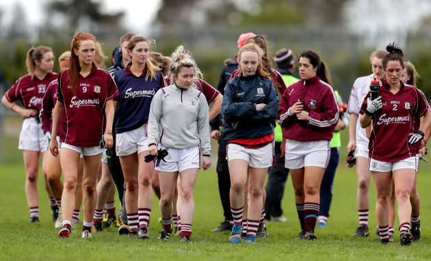 Galway players dejected after the game