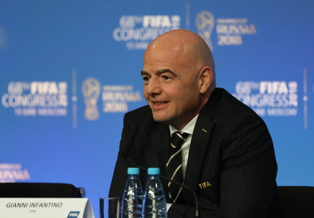 (SP)RUSSIA-MOSCOW-68TH FIFA CONGRESS-PRESS CONFERENCE