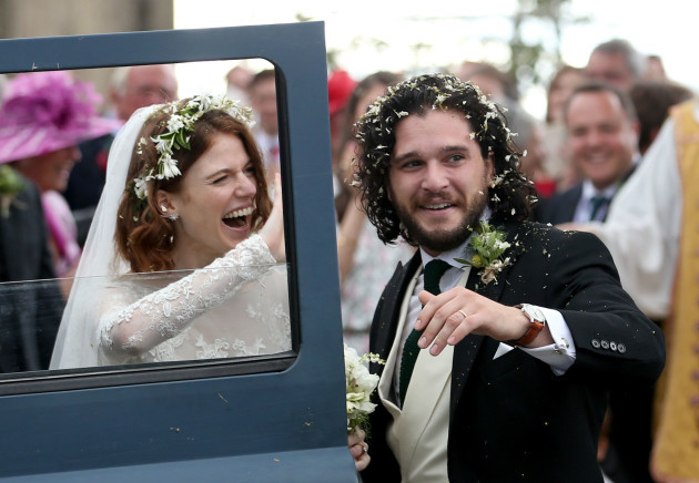 Kit Harington and Rose Leslie wedding