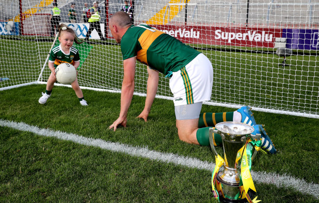 Kieran Donaghy with his daughter Lola Rose
