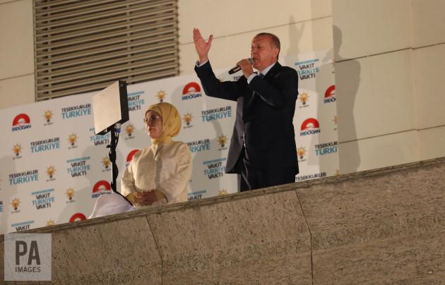 TURKEY-ANKARA-ELECTION-ERDOGAN-CELEBRATION