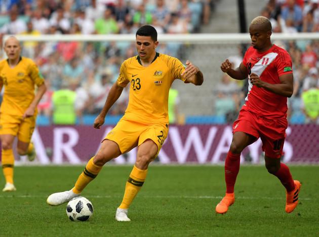 (SP)RUSSIA-SOCHI-2018 WORLD CUP-GROUP C-AUSTRALIA VS PERU