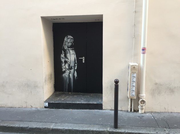 New Graffiti by Banksy appeared in Paris