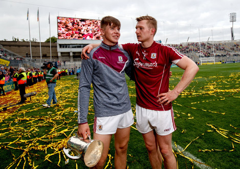 Jack Canning and Joe Canning celebrate