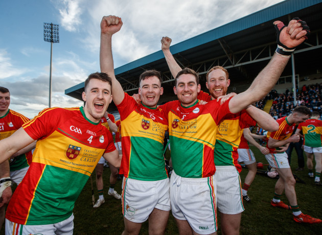Michael Doyle, Martin Kavanagh, Eoin Nolan and Paul Coady celebrate