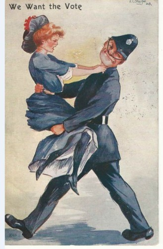 Anti suffragette postcard
