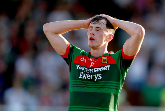 Diarmuid O'Connor reacts to a missed goal chance