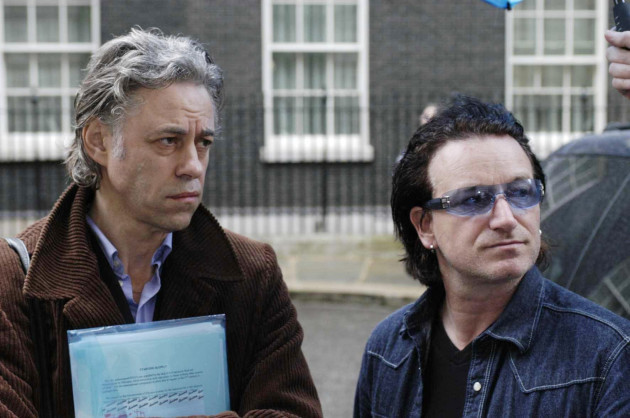 Bono and Geldof at Downing Street