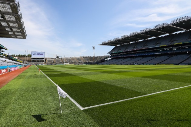 A view of Croke Park ahead of today's game