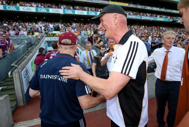 Michael Donoghue with Brian Cody after the game