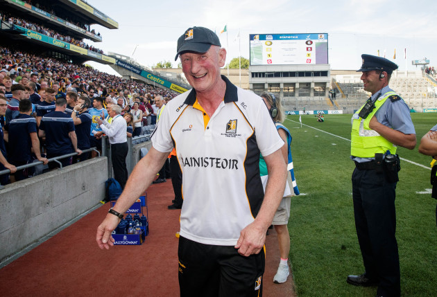 Brian Cody after the game ended in a draw